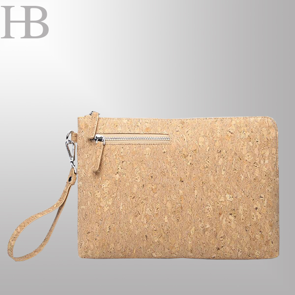 Eco Wool PU wristlet bag