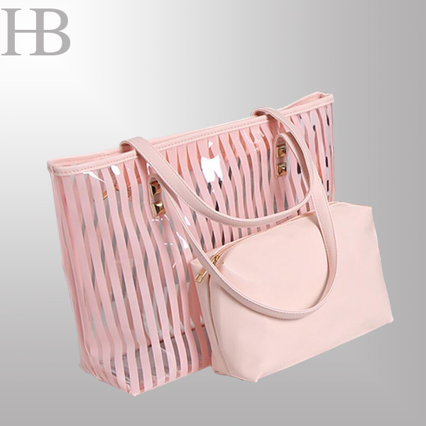 Pink hobo bag with bag organizer