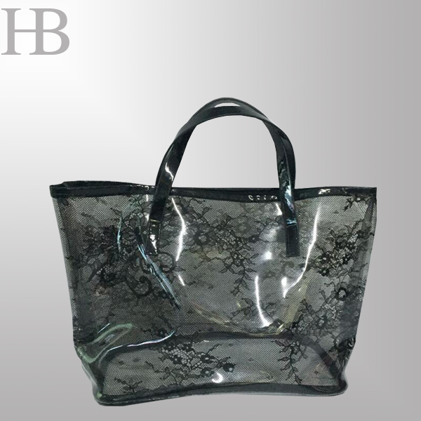 Transparent PVC handbag