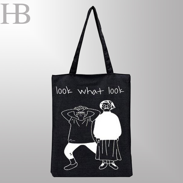 Black Canvas Handbag