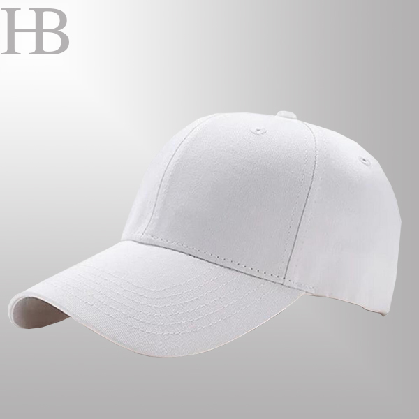 White Twill Cotton baseball cap