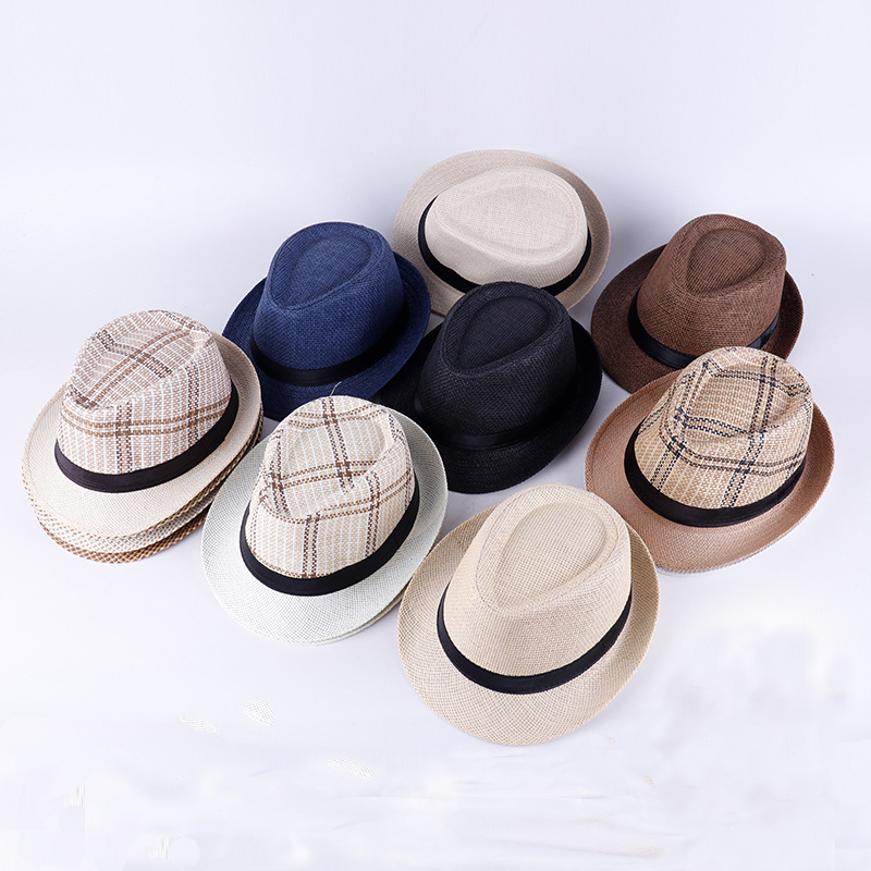 Panama Summer Hats for Women Men Fedora Straw Hat Outdoor Beach Sun Jazz Cap Holiday Traveling
